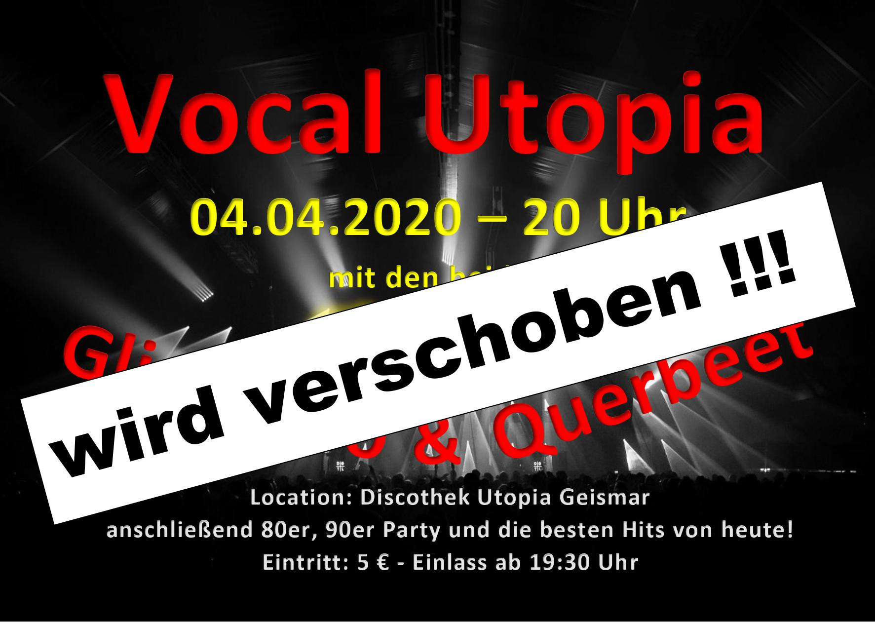 Vocal Utopia verschoben